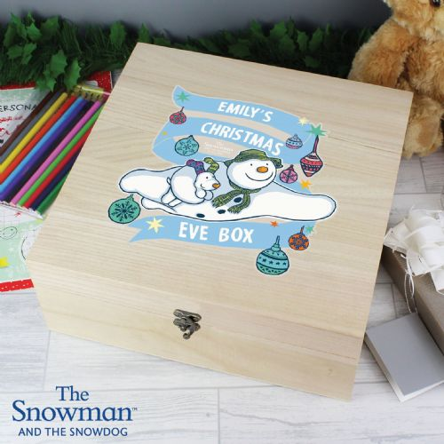 The Snowman and the Snowdog Large Wooden Christmas Eve Box